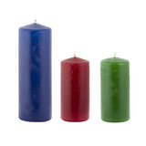 Three Paraffin candles poster