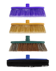 Collage, four Brush for washing