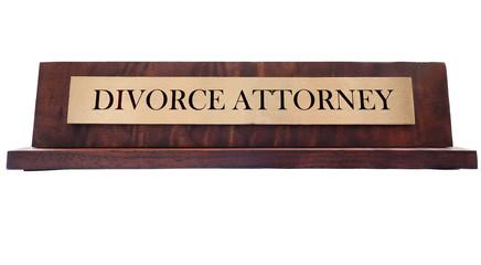 Divorce Name plate