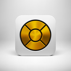White Abstract App Icon Button Template