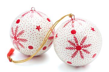 Weihnachtliche Christbaumkugeln