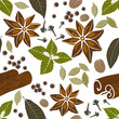 seamless pattern with spices