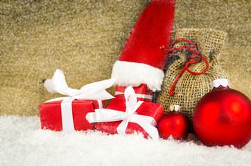 nikolausmütze mit geschenken