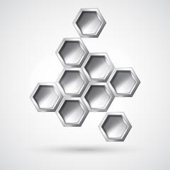 Silver hexagon form