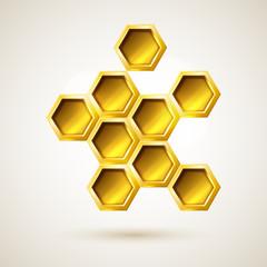 Golden hexagon geometric object