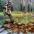 Fototapeta Motocyklista - Motocykl terenowy - Sporty motorowe