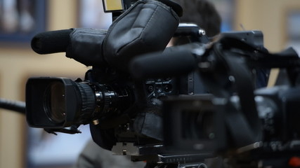 Operator with a video camera
