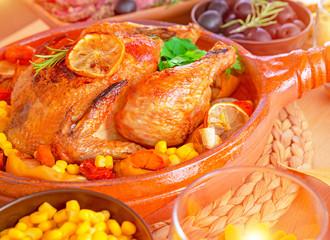 Tasty baked Thanksgiving turkey