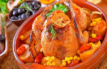 Delicious prepared Thanksgiving turkey