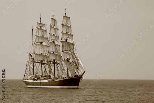 beautiful old sailing ship - 73475832