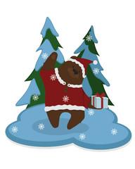 Cute bear. gift. winter