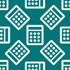 calculator web icon. flat design. Seamless pattern.