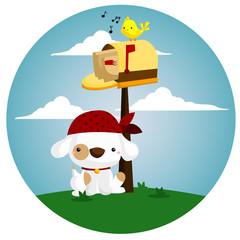 mailbox dog