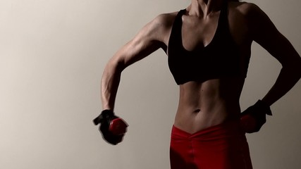 muscular athletic woman. Fitness. Muscular body