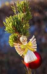 Christmas decoration with an angel figure