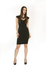 junge Frau - schwarzes Kleid