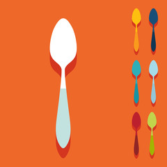 Flat design: spoon