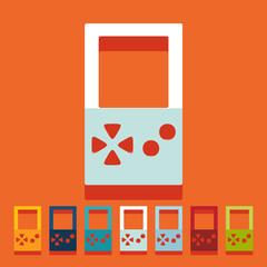 Flat design: video game