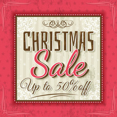 color christmas background and sale offer, vector