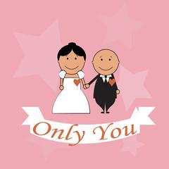 only you Love illustration over color background