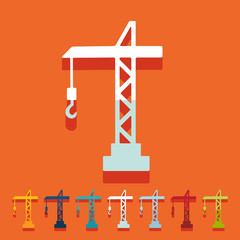 Flat design: hoisting crane