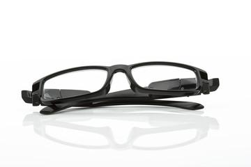 schwarze Brille