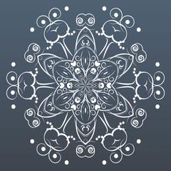 Ornamental round lace. Vector illustration