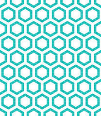 Hexagonal style seamless pattern