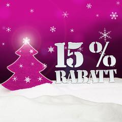 Christmas Tree 15% Rabatt Discount