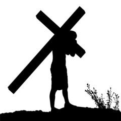 Vector silhouette of Jesus.