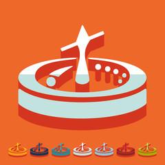 Flat design: roulette