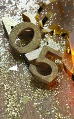 chiffres dorés 2015 en vrac sur paillettes