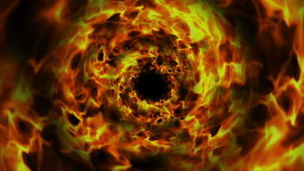 Flames Tunnel Background