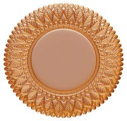 3D gold ornament