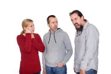 Mann leidet an dem Tourette Syndrom