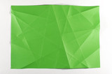 Multi shade green folded paper surface poster
