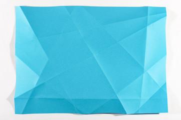 Aqua color unfolded sheet of paper