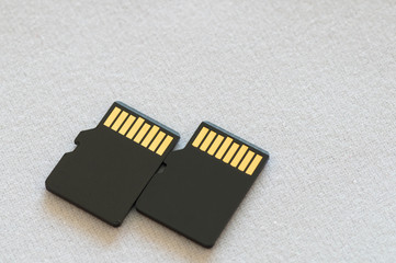 Two micro SD card next to each other
