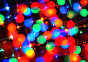 Colorful festive bokeh