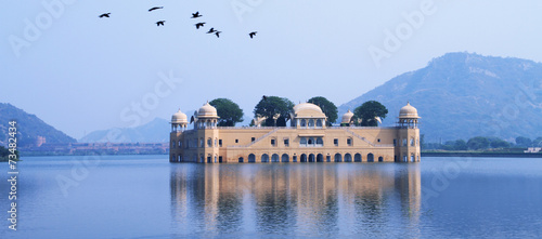 Foto op Aluminium India Palace in Water - Jal Mahal, Rajasthan, India