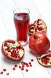 fresh pomegranate fruits and  juice