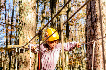 Climbing in the Adventure Park