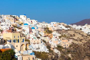 The village Oia on Santorini island, Greece