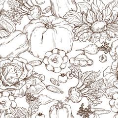 Various vegetables on white background