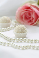 Coconut candies and pearl