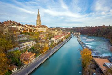 Aare und Münster in Bern