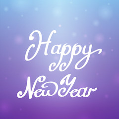 Happy New Year blue-purple background