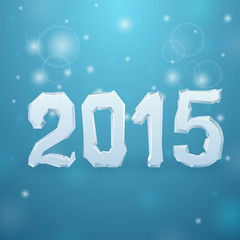 2015 Ice New Year background