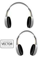Grey Vector Headphones