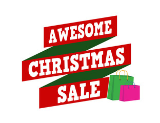 Awesome Christmas sale banner design